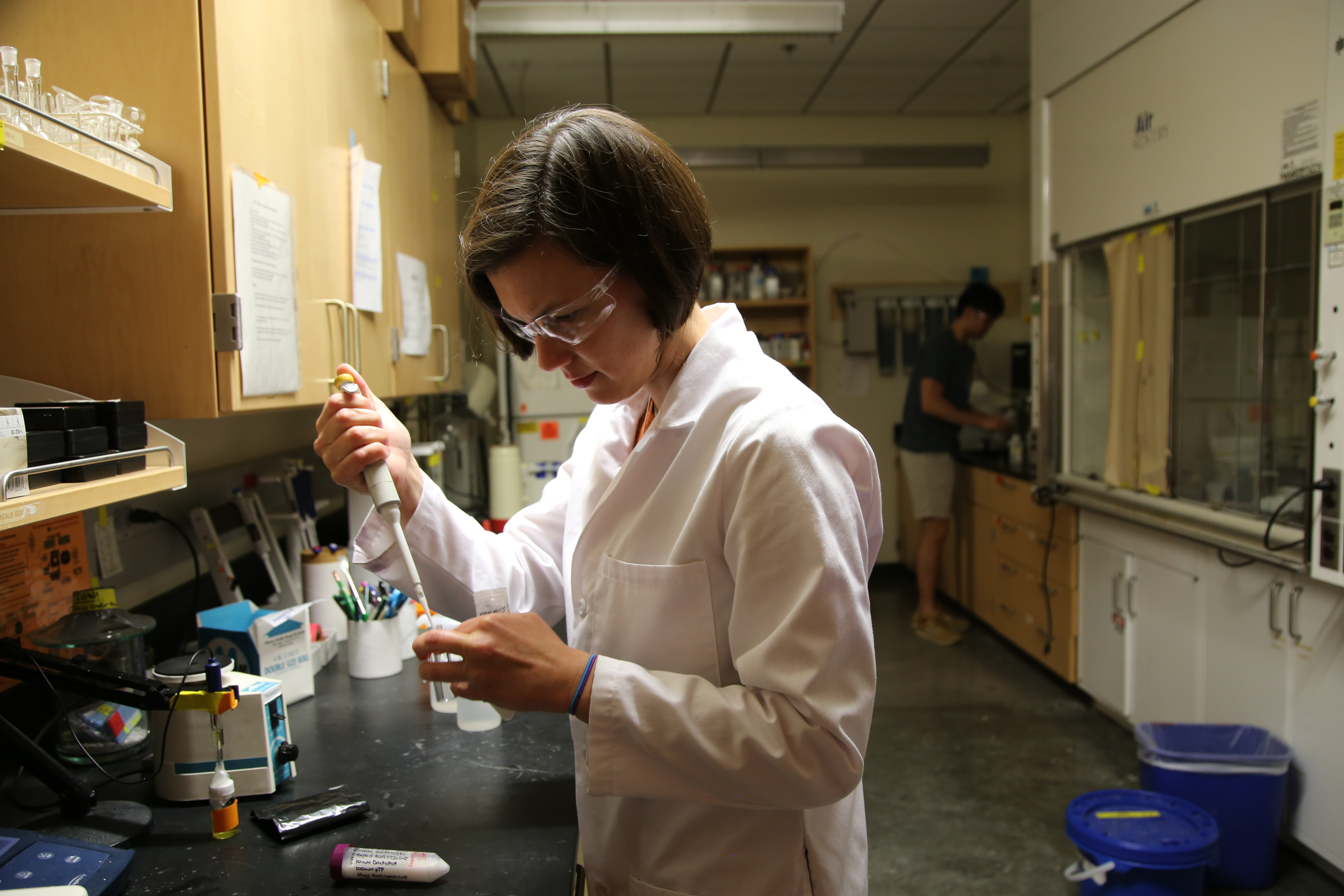 Colleen Janczak in the lab.