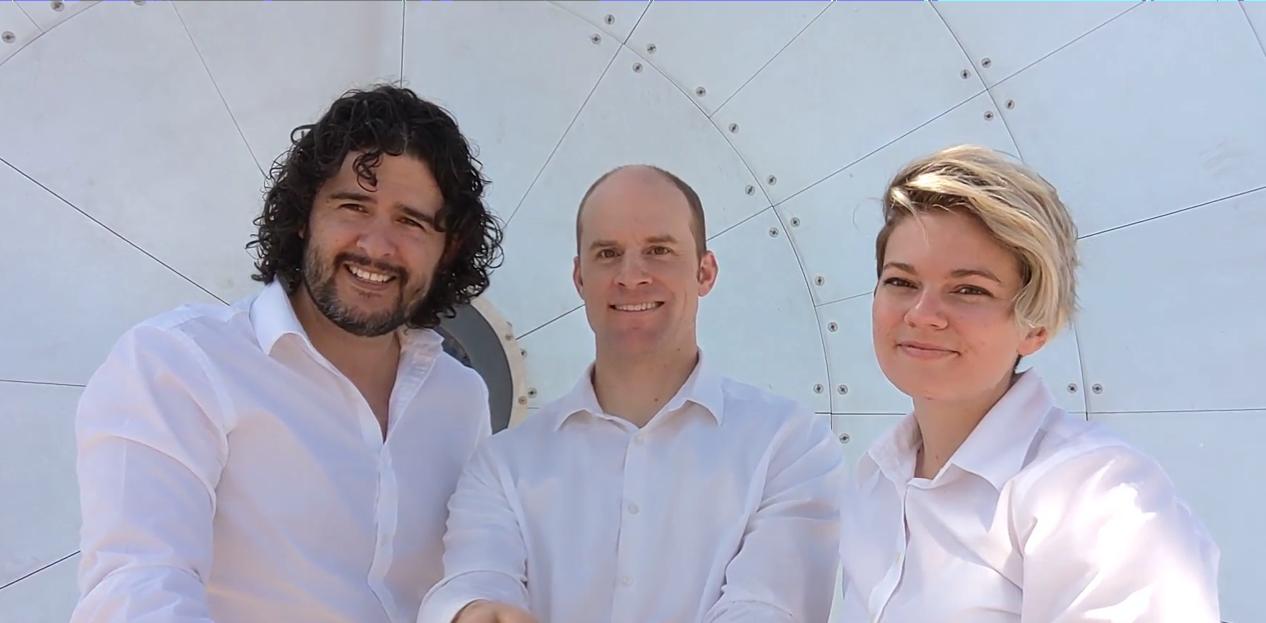 Left to right: Christian Davila-Peralta, Justin Hyatt and Roslyn Norman.