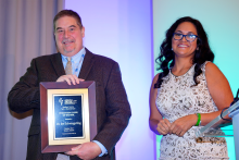 Left to right: Jim Schwiegerling and Karla Morales, Chairwoman of the Tucson Hispanic Chamber