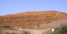 The mine tailings pile at the Iron King Mine and Humboldt Smelter Superfund Site in Yavapai County.